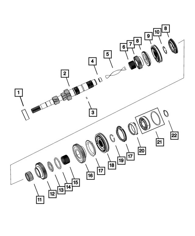 MOPAR 05013634AB Auto Trans Input Shaft Bearing Rear