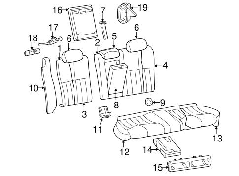 Rear Seat Components For 2003 Jaguar S Type