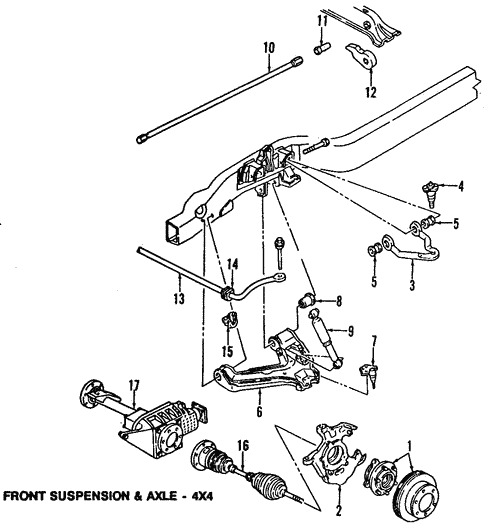 Suspension Components for 2004 Chevrolet Astro