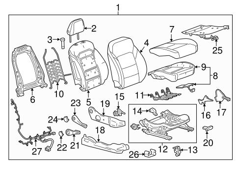Oem Passenger Seat Components For 2017 Chevrolet Cruze