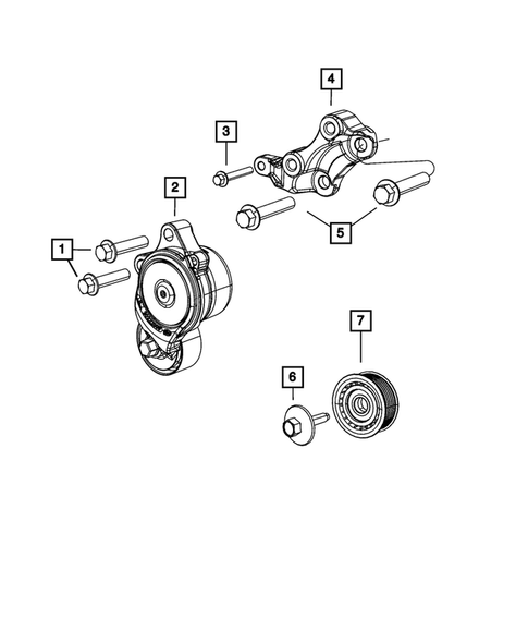 Pulleys and Related Parts for 2018 Jeep Grand Cherokee #1