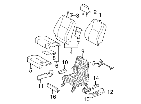 TOYOTA Genuine 71862-AA090-B1 Seat Cushion Shield