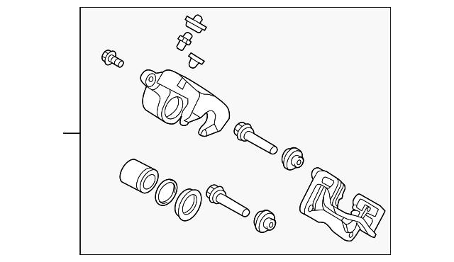 Rear Genuine Hyundai 58311-2BA00 Brake Caliper Kit Right