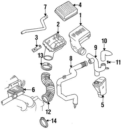 oem 1993 oldsmobile achieva air intake parts