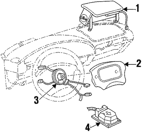 Air Bag Components For 1999 Oldsmobile Cutlass