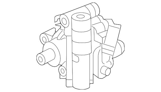 2004 2006 Chrysler Pacifica Power Steering Pump 4880349aa