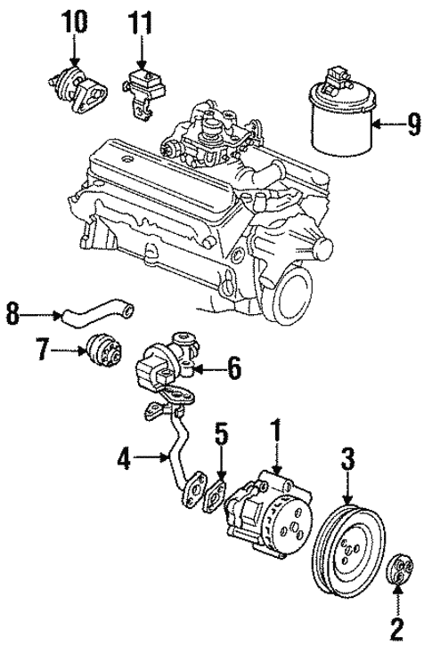 Emission System/Emission Components for 1994 Buick Commercial Chassis #1