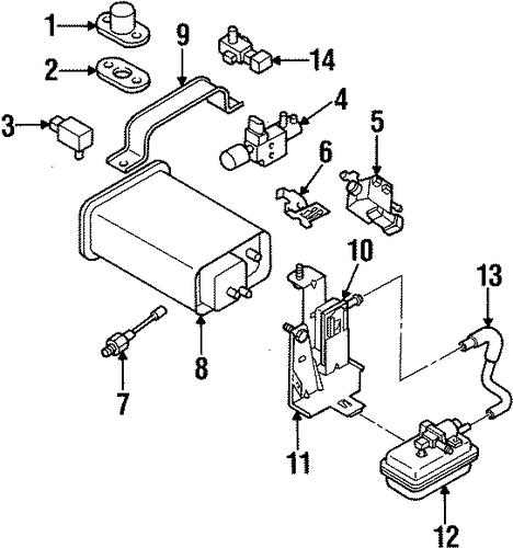 emission components for 2001 isuzu vehicross