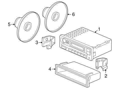 Speaker Assembly (16CM) (Single Cone) (Pioneer)