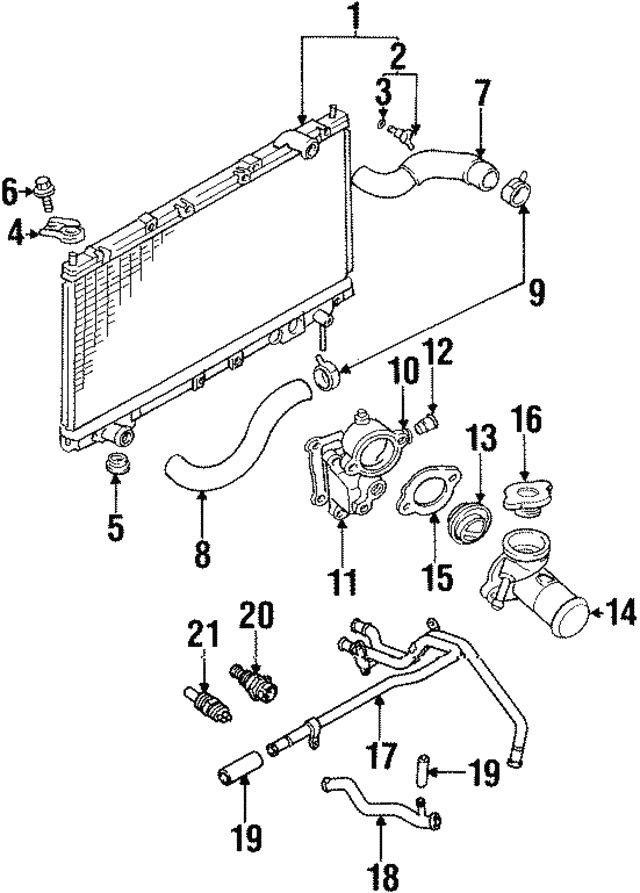 Mitsubishi Coolant Temp Sensor 56027873