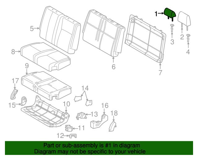 TOYOTA Genuine 71940-0C010-B1 Headrest Assembly