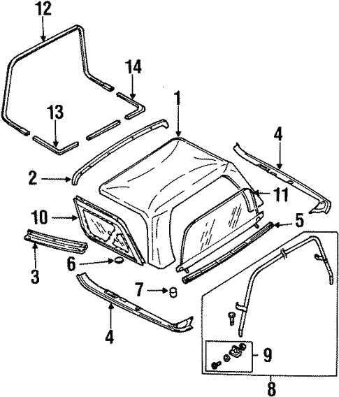 Cover Components For 2000 Kia Sportage