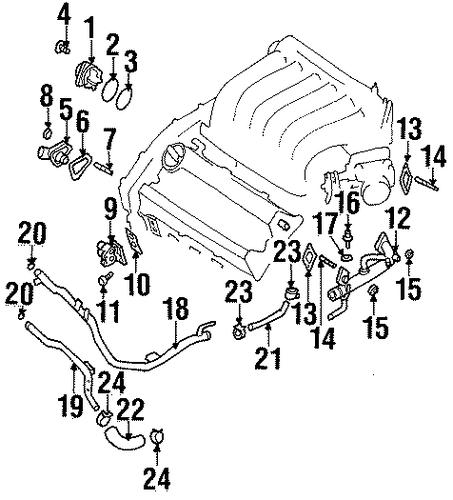 1999 Nissan Maxima Water Pump