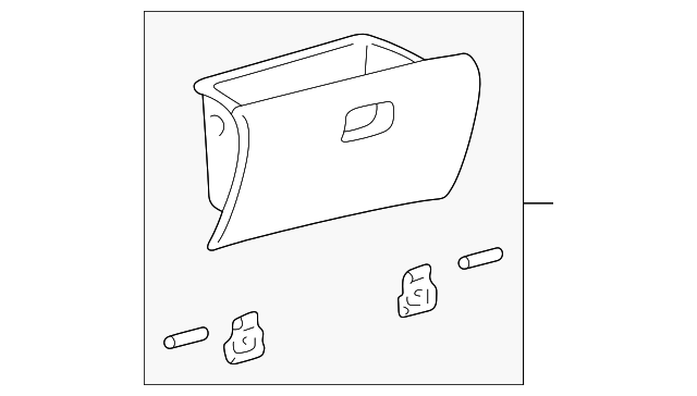 Toyota 55501-60171-A1 Glove Compartment Door