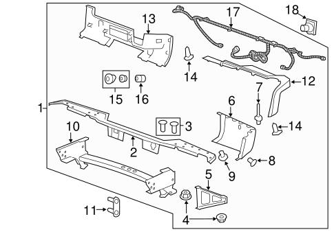 oem 2010 chevrolet silverado 1500 bumper components. Black Bedroom Furniture Sets. Home Design Ideas