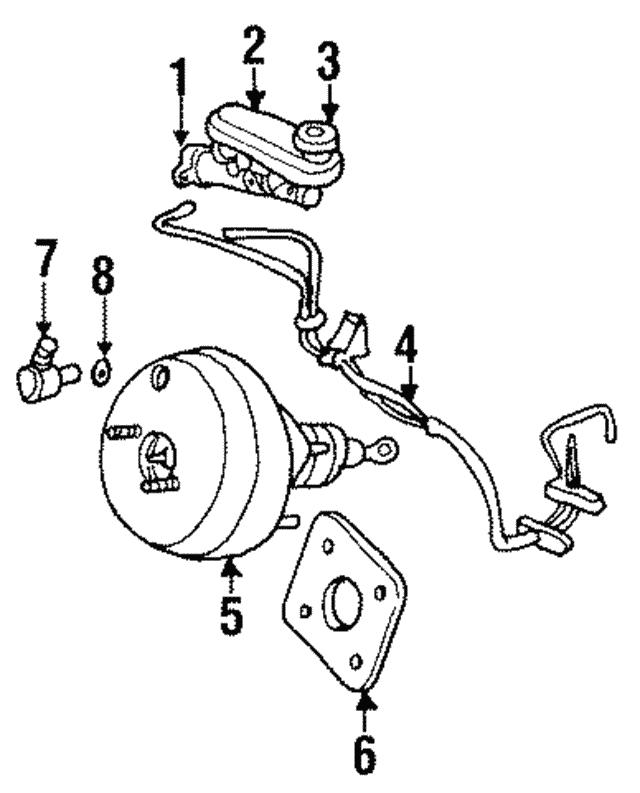 1996 2000 Mopar Reservoir Tank 4797630