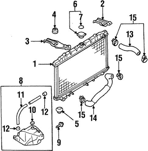 Radiator Components For 1999 Infiniti G20 Infiniti Parts Hq