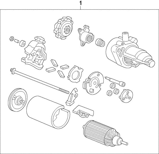 Starter Motor Assembly Sm 74015mitsuba