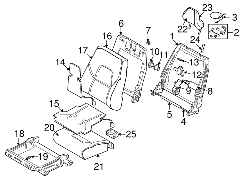 Front Seat Components For 2002 Volvo V70