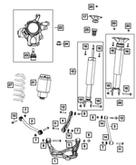 Tension Link Assembly, Right Rear - Mopar (68263732AA)