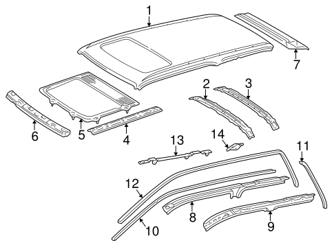 BODY/ROOF & COMPONENTS for 1999 Toyota 4Runner #2