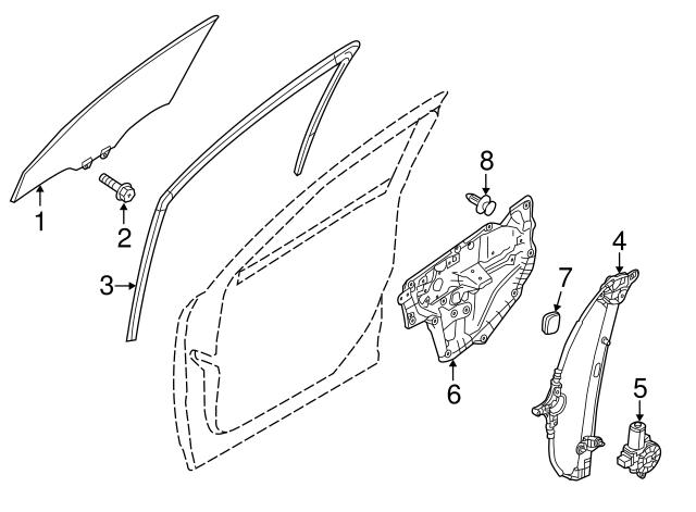 Mazda GEG1-59-97YA Window Regulator
