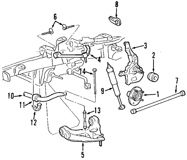 Shock Absorber Ford Bu2z18v124h: 2006 Ford Ranger Fx4 Bumper Diagram At Daniellemon.com