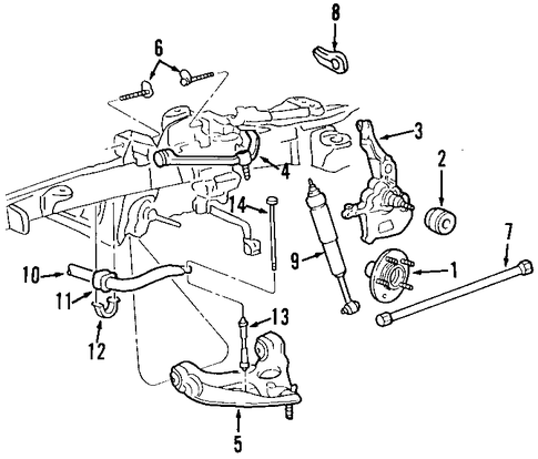Front Suspension/Suspension Components for 2001 Ford Ranger #3