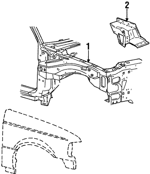 Inner Components For 1996 Ford Ranger