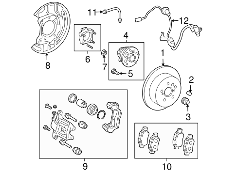 BRAKES/BRAKE COMPONENTS for 2005 Toyota Sienna #2