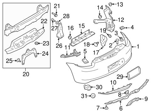 Bumper Ponents Rear For 2015 Porsche Boxster Sonnen. Bodybumper Ponents Rear For 2015 Porsche Boxster 1. Porsche. Porsche Boxster Bumper Parts Diagrams At Scoala.co