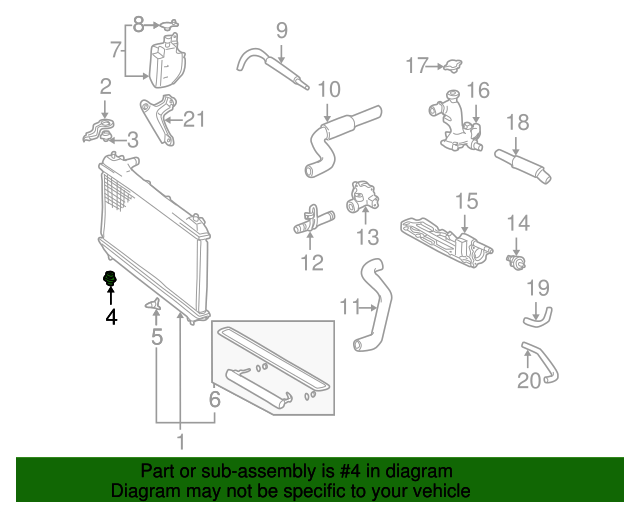 19982003 Toyota Sienna Radiator Assembly Lower Support 165350a070. Radiator Assembly Lower Support Toyota 165350a070. Toyota. 2000 Toyota Sienna Engine Support Diagram At Scoala.co