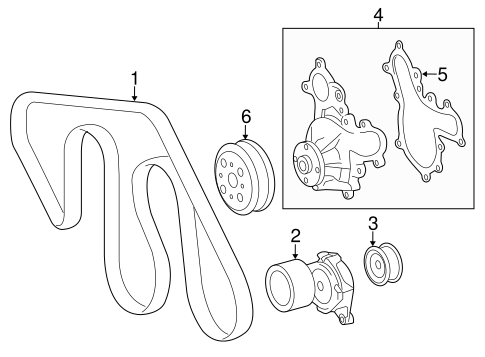 COOLING SYSTEM/BELTS & PULLEYS for 2015 Toyota Tundra #1