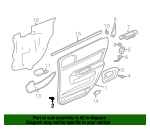 Door Trim Panel Lower Retainer