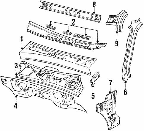 Cowl For 1994 Isuzu Pickup Isuzu Parts Center