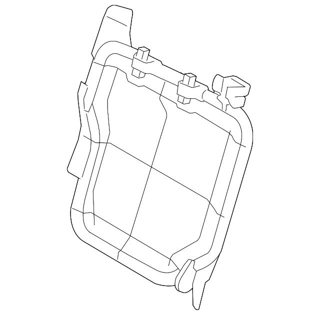 2014 Scion Iq Transmission: Seat Back Frame - Subaru (64510XA07A)