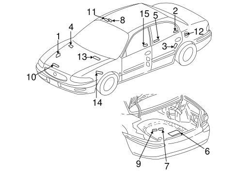Labels For 2000 Buick Lesabre Custom