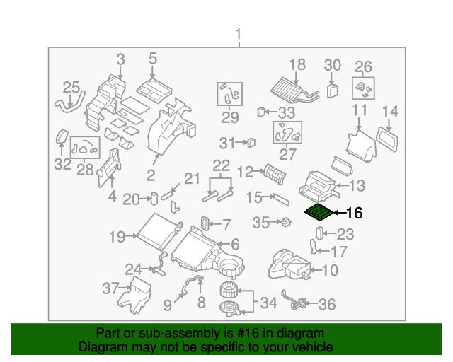 Cabin Air Filter Mazda L2y6 61 P11 Realmazda