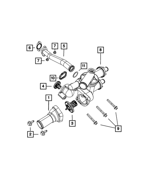 4884703AA Engine Coolant Thermostat Gasket MOPAR
