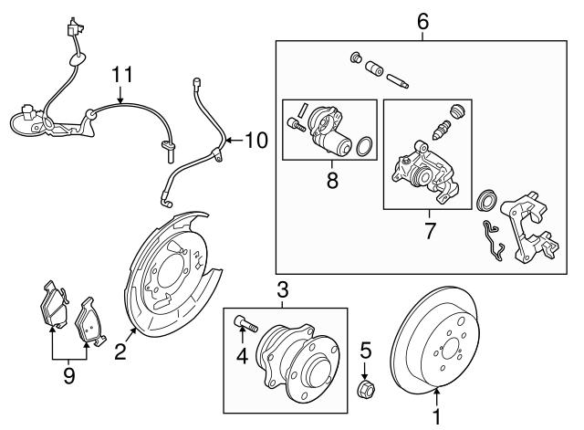 2015-2020 subaru brake pads 26696al01a | subaru parts store  subaru parts