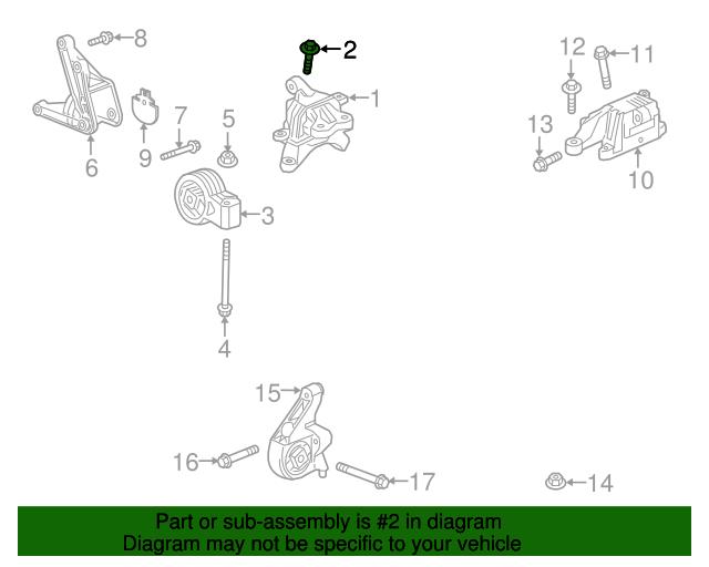 GM 11570514 OEM Engine Motor Transmission-Side Transmission Bolt 1//A