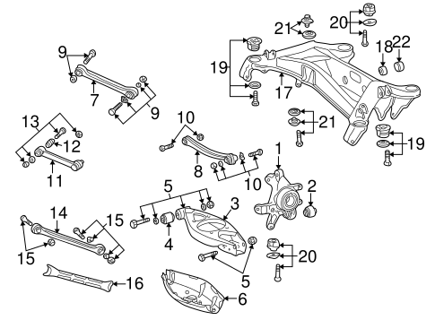 Rear Suspension for 1998 Mercedes-Benz C 280 #1