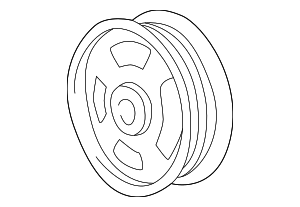 Pulley - Ford (XW4Z-3A733-BA)