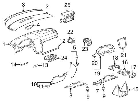 instrument panel components parts for 2006 pontiac montana. Black Bedroom Furniture Sets. Home Design Ideas