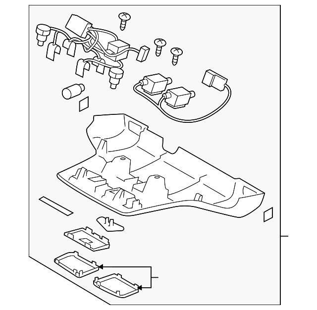 2018 Subaru Crosstrek Transmission: Map Lamp Assembly - Subaru (87505FL421ME)