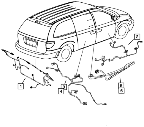 Wiring Body Accessories For 2007 Dodge Caravan