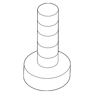 Cargo Cover Screw - Mercedes-Benz (010-990-37-04)