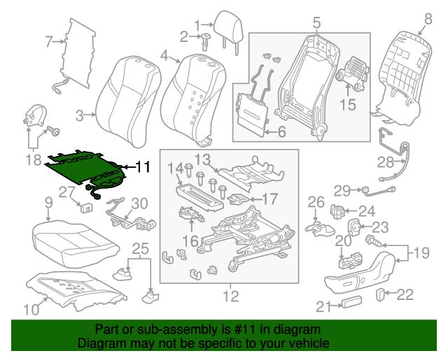 TOYOTA Genuine 71867-20010-16 Seat Cushion Shield
