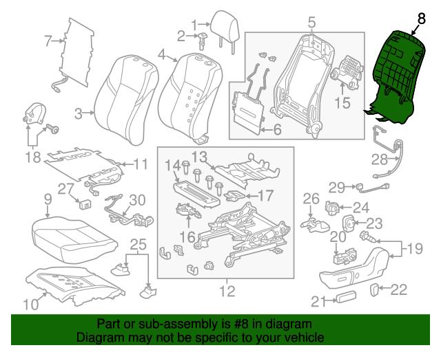 TOYOTA Genuine 71940-07070-B0 Headrest Assembly