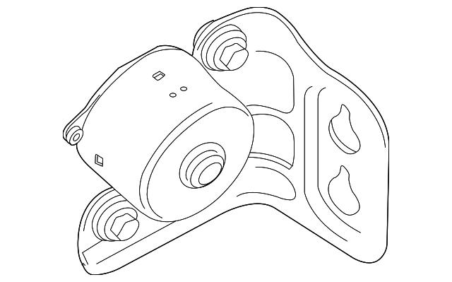 2005 2006 Chrysler Pacifica Modulator Bracket 5142281aa